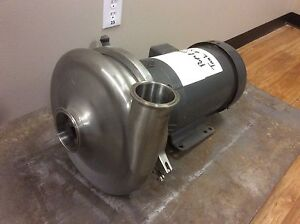 Waukesha 2085 Stainless Steel Centrifugal Pump 3 X 2 1 2 In out Tri clamp