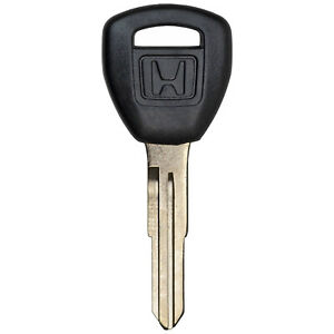 Transponder Chipped Ignition Replacement Key Blade Uncut Logo For Honda Hd111pt