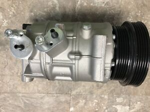 New Ac Compressor Fits Vw Jetta Beetle Golf 2 5l 2005 2014 Double Pulley