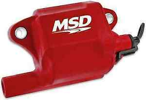 Msd 8287 Single Red Pro Power Multiple Spark Ignition Coil For Corvette Ls2 ls7