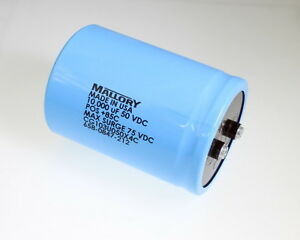 1x 10000uf 50v Large Can Electrolytic Aluminum Capacitor 10000mfd 10 000 50vdc