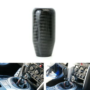 Glossy Black Real Carbon Fiber Shift Knob For Most Car 6 Speed 5 Speed 4 Speed
