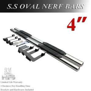 01 18 Chevy Silverado 1500 2500hd Crew Cab 4 Nerf Bars Side Steps Running Board