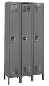 Hallowell Readybuilt 1 Tier 3 Wide School Locker