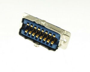 26 Series 16 Pin Contact Cable To Panel Blue Ribbon Connector Receptacle Wirepro