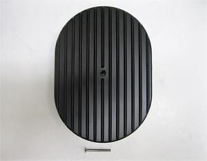 12 Oval Full Finned Black Aluminum Air Cleaner Nostalgia Nice Clean Retro Look