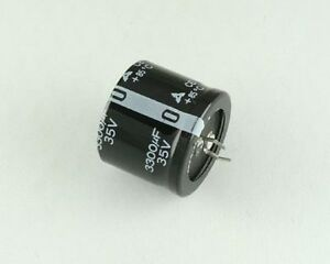 25x Panasonic 3300uf 35v Aluminum Electrolytic Snap In Capacitor Eces1vv332s
