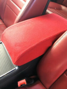 Fits 11 19 Dodge Charger 300 Red Fabric Center Console Armrest Cover Protector