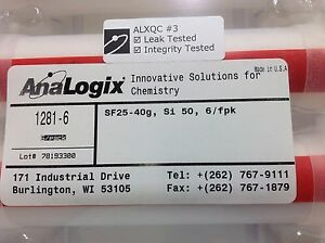 Analogix Superflash Si50 Sf25 40g Flash Chromatography Column Pn 1281 6 4 Pack