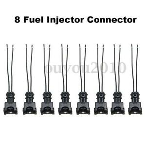 8x Fuel Injector Connector Wiring Plugs Clips Fit Ev1 Obd1 Pigtail Cut