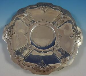 Reed And Barton Sterling Silver Cookie Plate W Chased Urns Fruit 800 1413