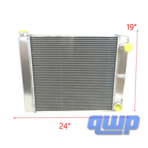 Chevy Gm Universal Racing Welded Radiator 2 Row Double Pass 24 X19 X3