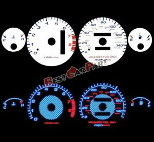 White 94 01 Acura Integra Rs Gs Ls At Blue Indiglo Glow Reverse Gauges