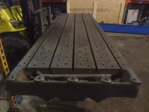 161 25 X 44 X 7 Steel Welding 5 T slotted Table Layout Plate Jig_5 Slot