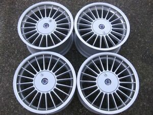 Rare Staggered 17 alpina Softline Rims With Lockable Caps Showrm Condition