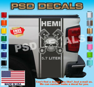 Dodge Ram 1500 2500 3500 Vinyl Decal Racing Sticker Stripe Hemi Mopar 5 7l T 168