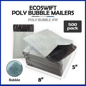 500 000 4x8 Self Seal Poly Bubble Padded Envelopes 5 X 8 X wide Mailers Bags