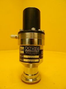 Mdc Vacuum Products 311074 1010 Pneumatic Angle Valve Used Working