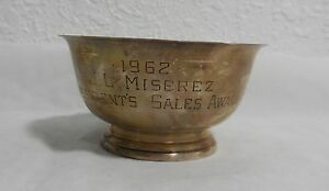 Vintage 1962 Sterling Silver Paul Revere Bowl 29 By Web Award Inscription