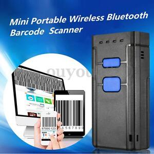 Portable Wireless Bluetooth Barcode Laser Scanner Code Reader For Ios Android
