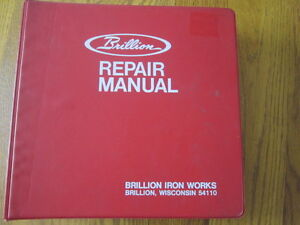 Brillion Repair Manual Brillion Iron Works