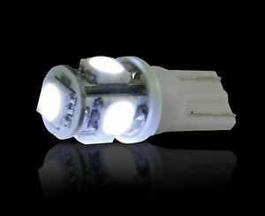 Recon 264201wh Pair Of 360 Degree White 194 168 Led Dome map license Plate Bulbs