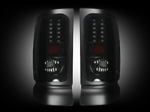 Recon 264170bk Smoked Lens Led Tail Lights For 94 02 Dodge Ram 1500 2500 3500
