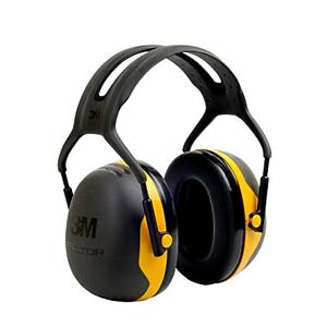 Head Ear Muffs Protect Shooting Mowing Cutting Wood Black yellow X2a pack Of 1