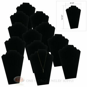 12 12 1 2 Black Velvet Padded Pendant Necklace Display Easel Presentation