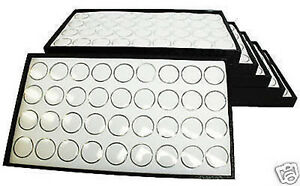 6 36 Gem Jar Tray White Insert Jewelry Display Gemstone
