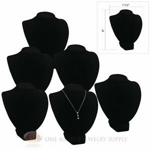 6 8 Pendant Necklace Black Velvet Neck Form Jewelry Presentation Displays