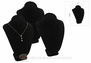 3 7 1 2 Pendant Necklace Black Velvet Neck Form Jewelry Presentation Display