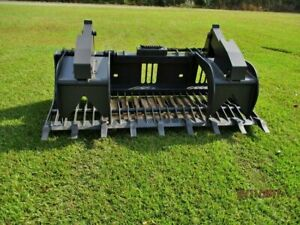 New 72 Rock Grapple Bucket Skidsteer Attachment Quick Attach Powder Coated