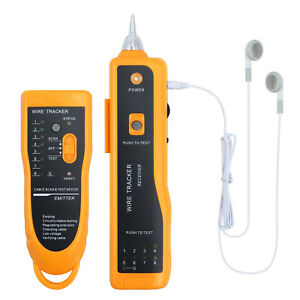 Telephone Lan Network Rj45 11 Tester Tracker Cable Wire Finder Tracer Toner Test