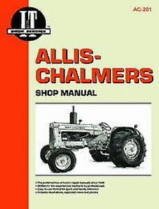 Made To Fit Allis Chalmers I t Shop Manual160 170 D10 D12 D14