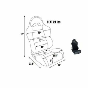 Scat By Procar 80 1615 71 Seat Driver passenger Side sportsman Pro Series 1615