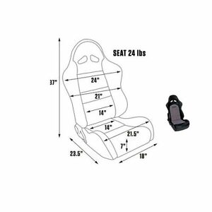Scat By Procar 80 1615 73 Seat Driver passenger Side sportsman Pro Series 1615