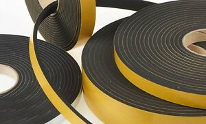 Self Adhesive Foam Sealing Tape Strip Draught Excluder Epdm Rubber 10 Meter Roll
