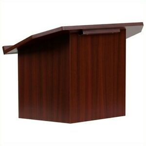Flash Furniture Foldable Tabletop Lectern In Mahogany Transitional