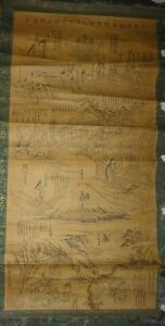 Japan Edo Period Buddhist Hanging Scroll Sengenjinja Shrine Mount Fuji Tengu God