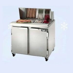 Leader 36 Bain Marie Commercial Kitchen Sandwich Prep Table Local Pickup Only