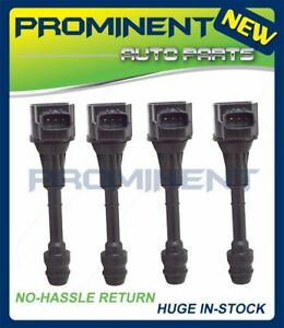 4 Ignition Coils Replacement For 02 06 Nissan Sentra 1 8l Uf351