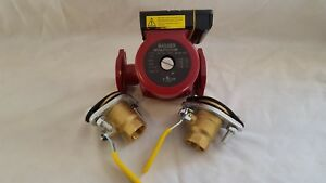 34 Gpm 3 Speed Circulating Pump Without Cord With 2 1 1 4 Flanged Ball Valves