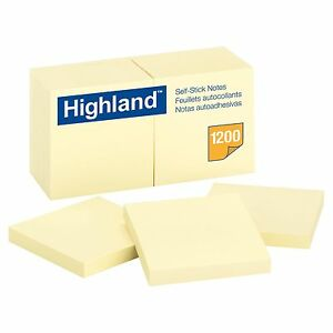 2400 Sheet 24 pack Sticky Notes 3x3 Self stick Pad Yellow Lot 3m Paper Post It