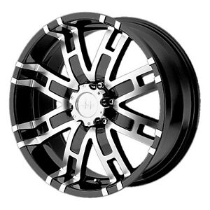 4 Helo He835 20x9 Black Machined Wheels 18mm Offset Special Low Price