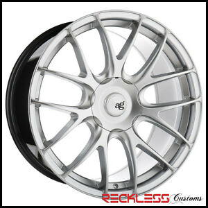 19 Avant Garde M410 Staggered Silver Wheels Rims Fits Ford Mustang Gt