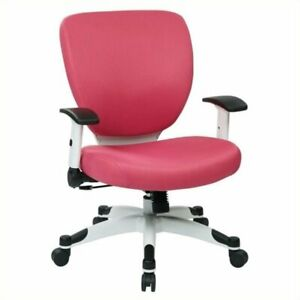 Scranton Co Padded Mesh Office Chair In Pink