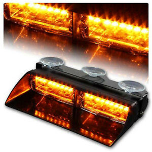 Car 16 Led Amber Amber Police Strobe Flash Light Dash Emergency Flashing Light