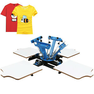 4 Color 4 Station Silk Screen Printing Machine T shirt Printer Equipment