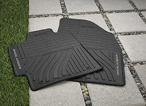 Toyota Highlander 2008 2013 Hybrid All Weather Rubber Floor Mat Set Oem New